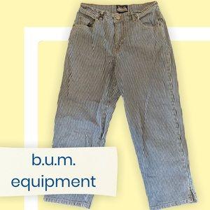 b.u.m equipment / cropped / pinstriped / jeans